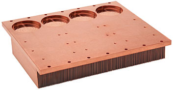 Skinved  Copper Heat Sink